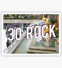 Vintage 30 Rock Postcard Sticker