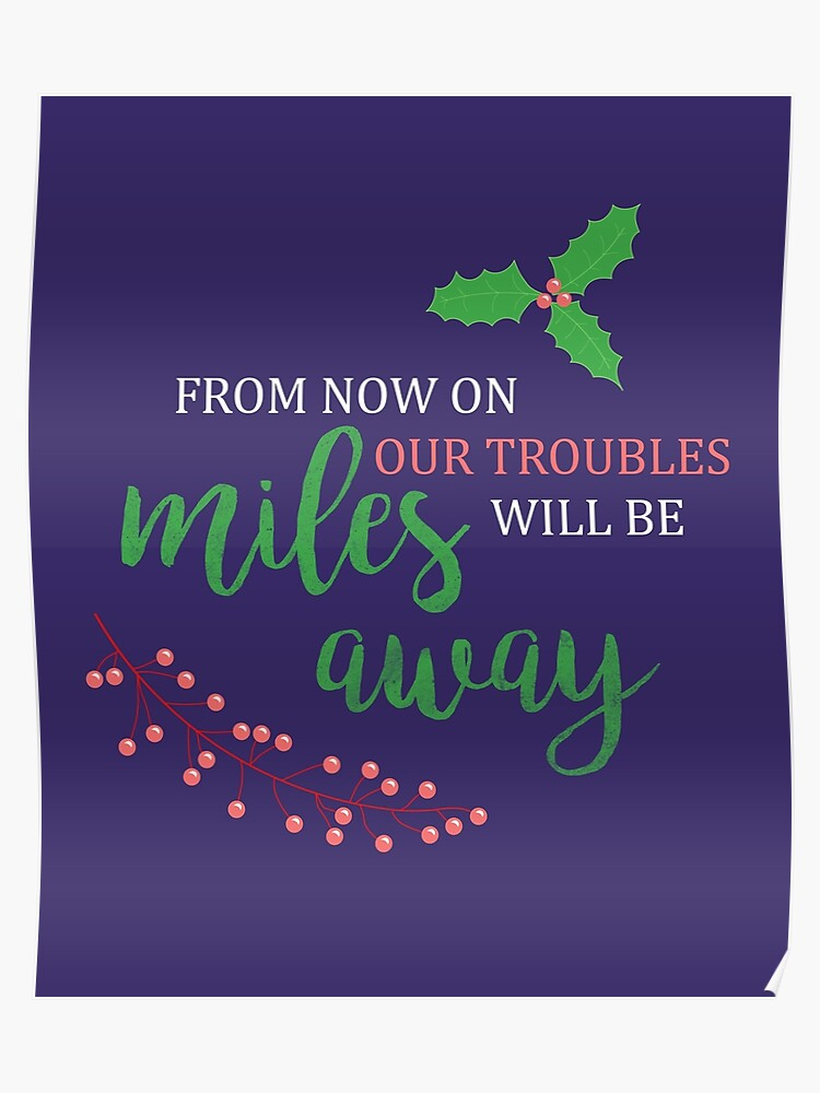 Merry Little Christmas Lyrics.Have Yourself A Merry Little Christmas Carol Lyrics Poster