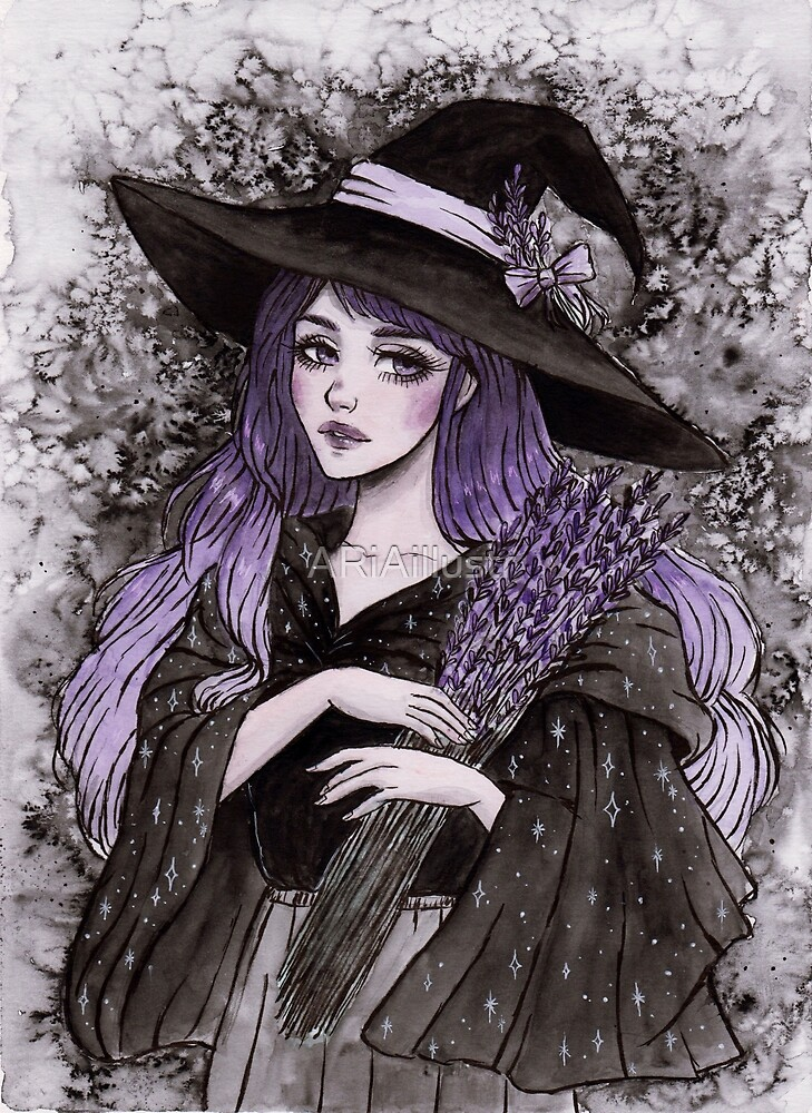 Lavender witch by ARiAillustr