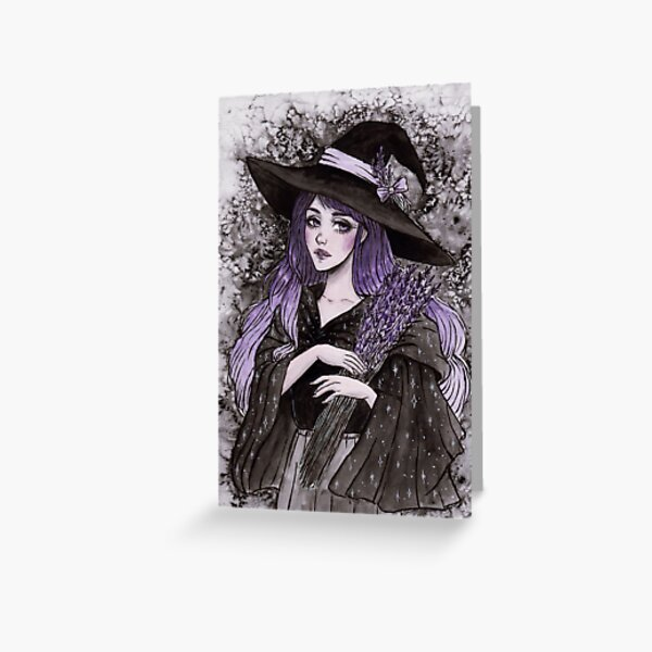 Lavender witch Greeting Card