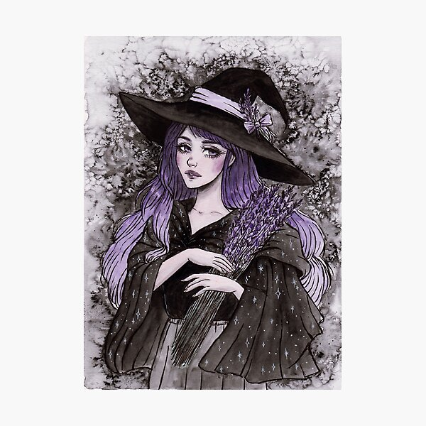 Lavender witch Photographic Print