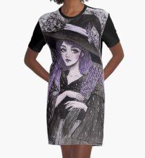Lavendel Hexe T-Shirt Kleid