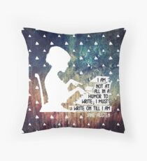 Jane Austen Writing Quote Throw Pillow