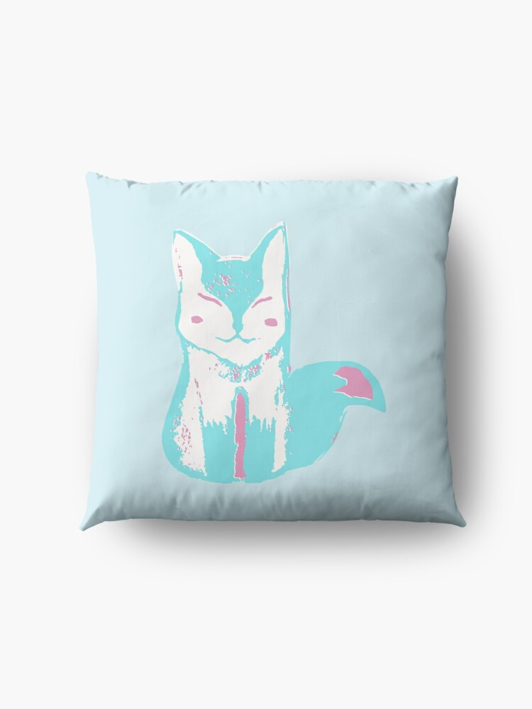 Alternate view of Icy Blue Fox Floor Pillow