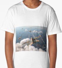 Headlong attack (Hurricanes over Dorset) Long T-Shirt