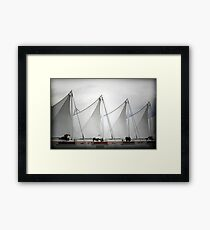 Rhythm of Pattern - Cruise Ship Terminal Vancouver Canada Framed Print