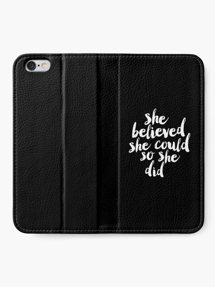 Alternative Ansicht von Sie glaubte, sie könnte so tat sie iPhone Flip-Case