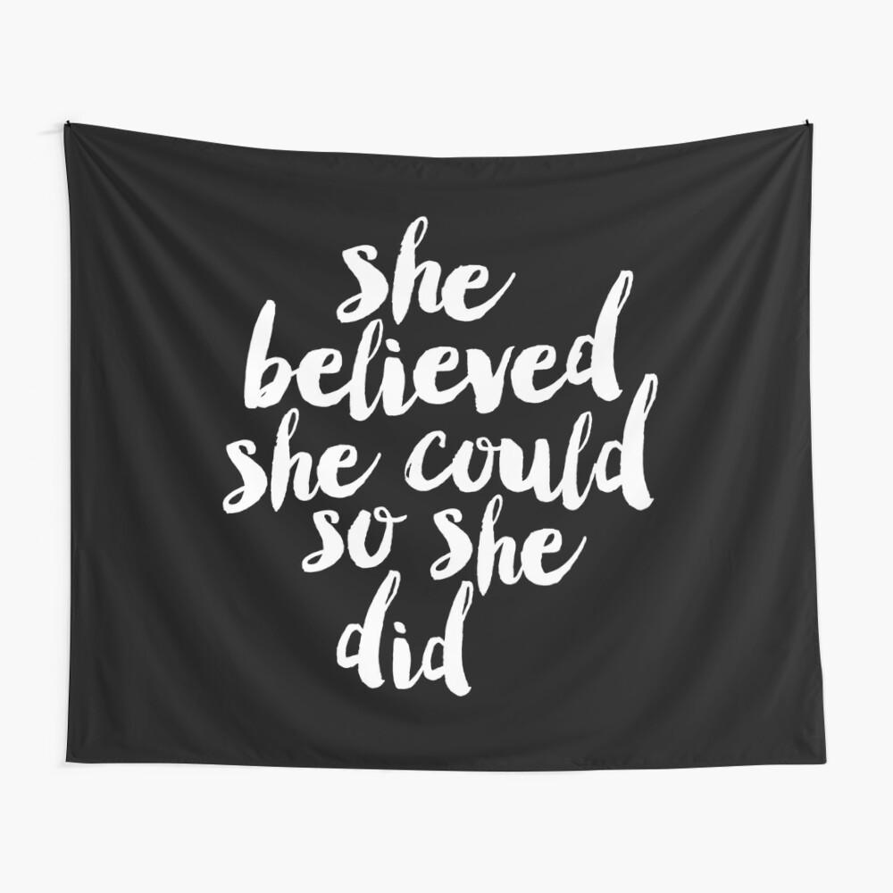 Sie glaubte, sie könnte so tat sie Wandbehang