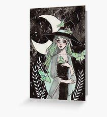 Luna Motte Hexe Grußkarte