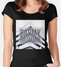 Barmy Brummie on Gifts and t-shirts with image of Birmingham Old Library Women's Fitted Scoop T-Shirt