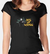 ACE OF WANDS - TAROT & LOGO Women's Fitted Scoop T-Shirt