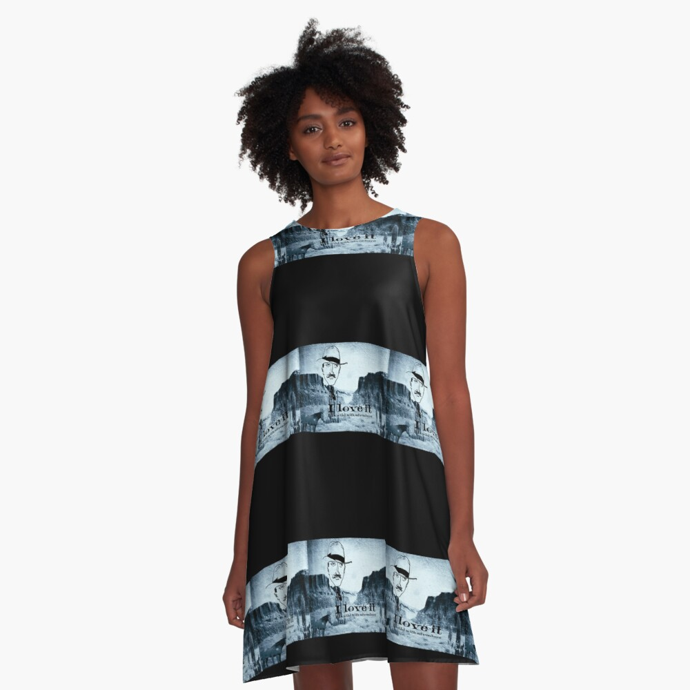 I love it     . It is wild with adventure. A-Line Dress Front
