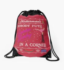 DIrty Dancing Christmas Sweater - Santa Baby Drawstring Bag