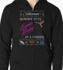 DIrty Dancing Christmas Sweater - Santa Baby Zipped Hoodie