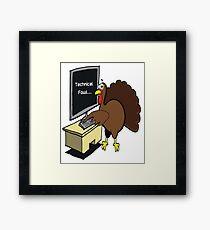 Technical Fowl Turkey Framed Print