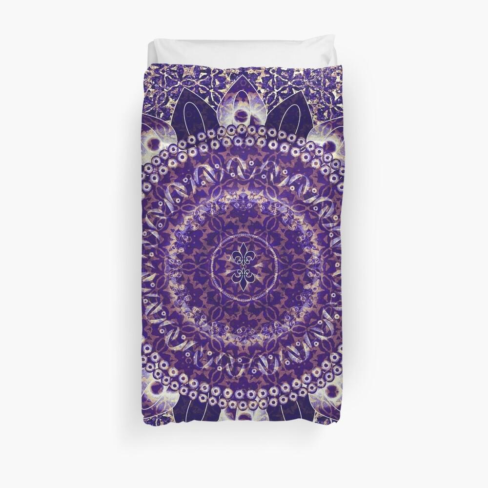 Königliches lila Mandala Bettbezug