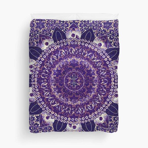 Royal Purple Mandala Duvet Cover