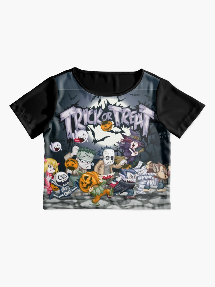 Alternate view of Trick or Treat - Monsters Ball!  Chiffon Top