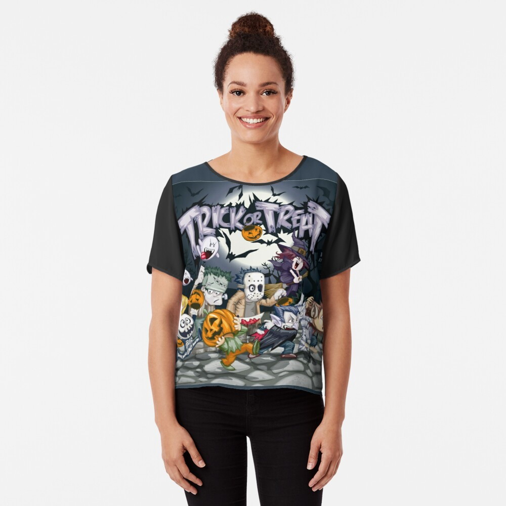 Trick or Treat - Monsters Ball!  Chiffon Top