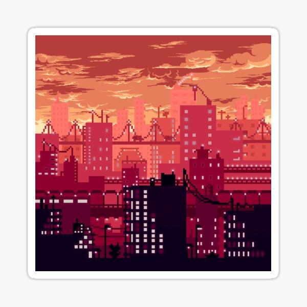 City Sunset Pegatina