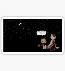Calvin and Hobbes Night Sky Sticker