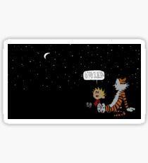 Calvin and Hobbes Night Sky Sticker