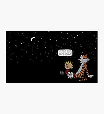 Calvin and Hobbes Night Sky Photographic Print