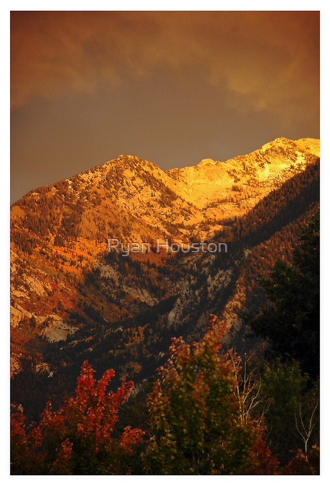 Wasatch Mountains Stormy Sunset by Ryan Houston