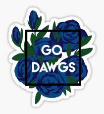 Go Dawgs Floral Sticker