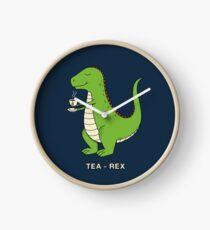 Tea Rex Clock
