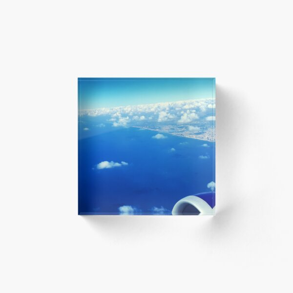 Sky View From The Airplane Window Acrylic Block