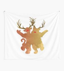 Christmas Friends Inspired Silhouette Wall Tapestry