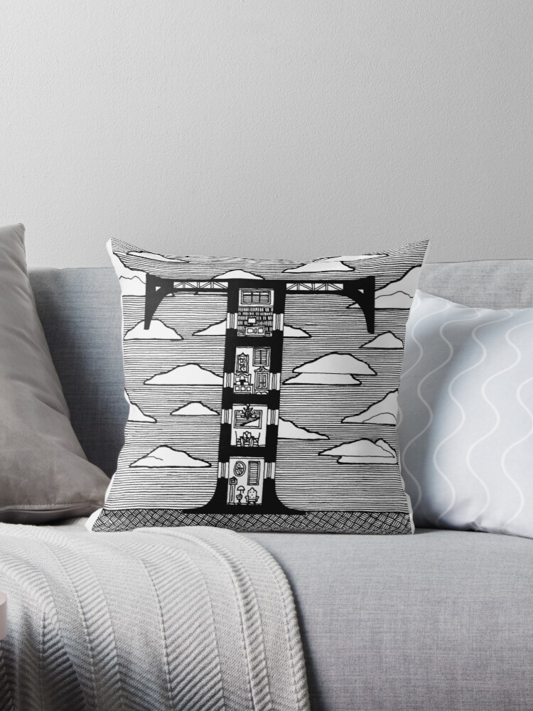 Letter T Architecture Section Alphabet Throw Pillow By Markaugustine Redbubble