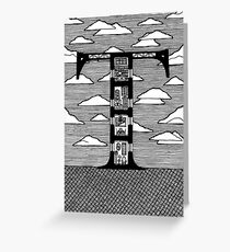 Letter T Architecture Section Alphabet Greeting Card