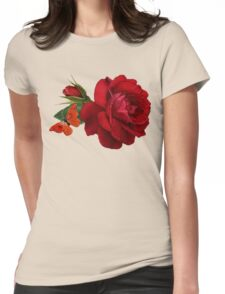 rose red Womens Fitted T-Shirt