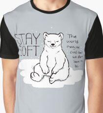 "Camiseta gráfica Oso polar ""Stay Soft"""