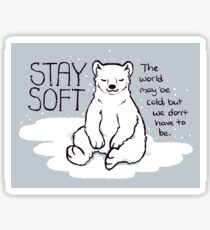 """Stay Soft"" Polar Bear Sticker"