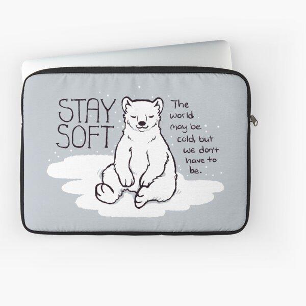 """Stay Soft"" Polar Bear Laptop Sleeve"
