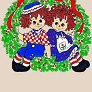 Christmas Raggedy Anne and Andy Vintage  by hilda74