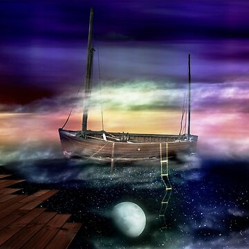 Sailing through the Night Sky by AndyKingArt