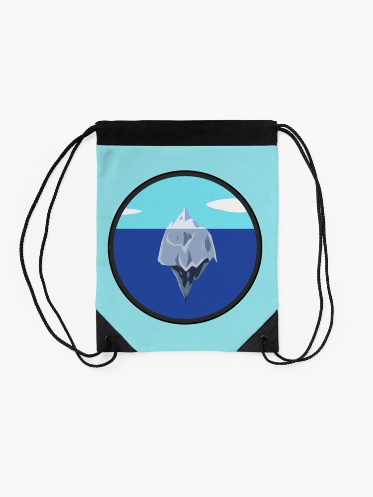 Alternate view of official chill method logo large print Drawstring Bag