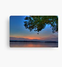 Twilight Over Water Canvas Print