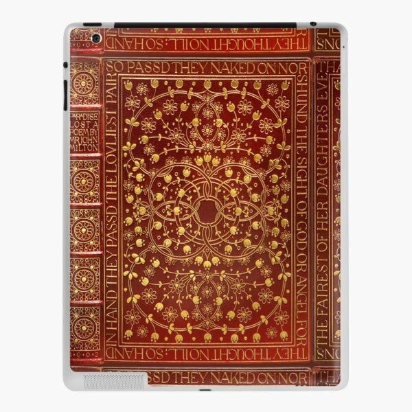 Paradise Lost by John Milton, 1902 red leather book cover iPad Skin