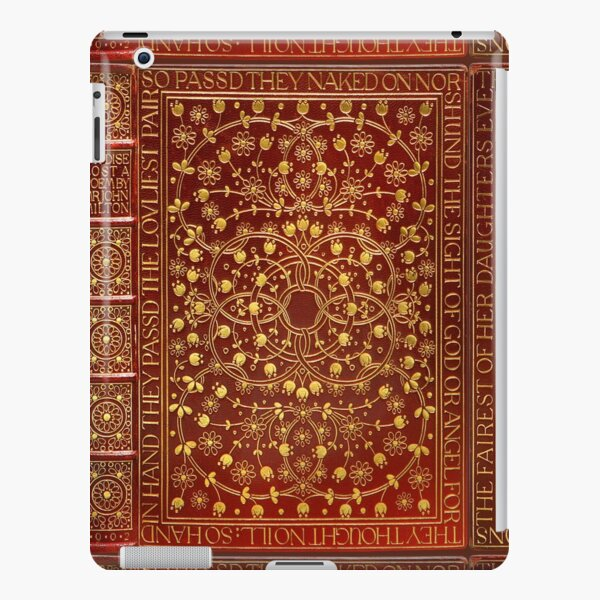 Paradise Lost by John Milton, 1902 red leather book cover iPad Snap Case