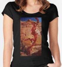 Saturn Ascends Fitted Scoop T-Shirt