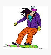 Snowboarder girl Photographic Print