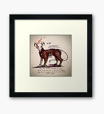 Houndoom Framed Print