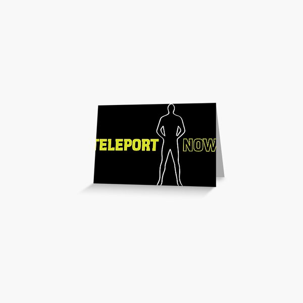 Blake's 7: Teleport Now! Greeting Card