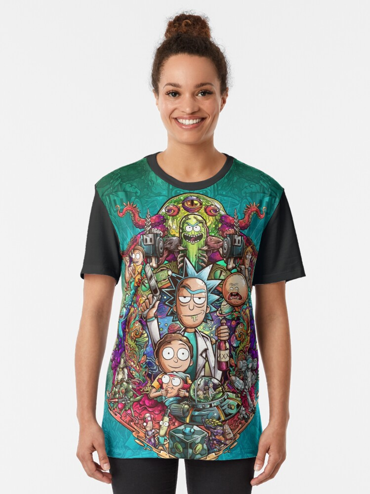Alternate view of Buckle Up Morty! Graphic T-Shirt