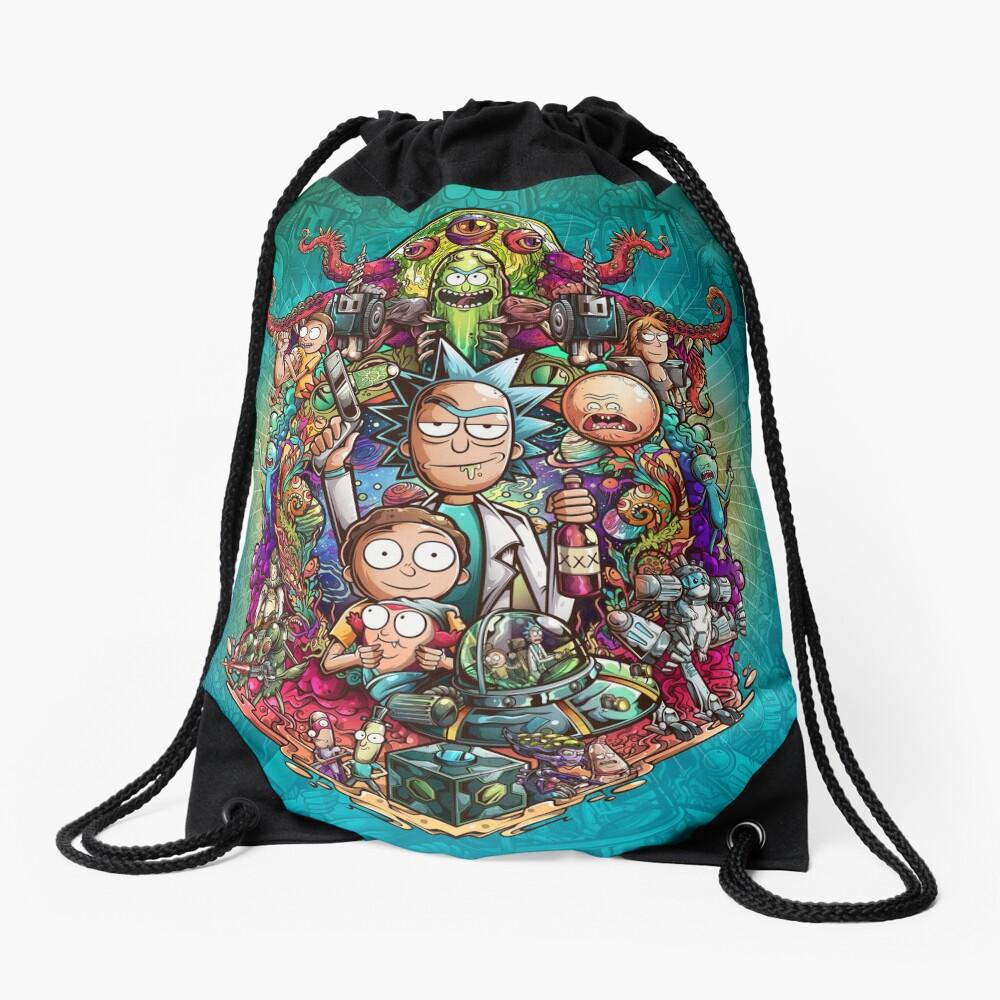 Buckle Up Morty! Drawstring Bag
